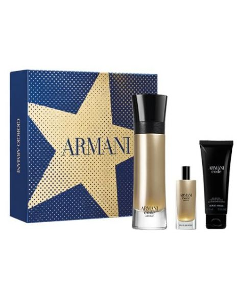 Armani Code Absolu Set (Apa de parfum 110ml + Apa de parfum 15ml + Gel Dus 75ml)