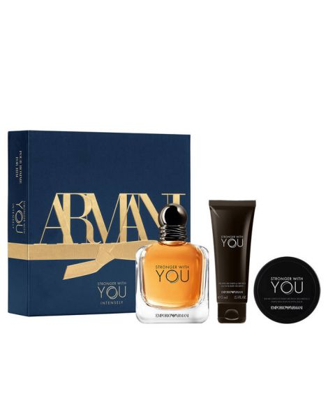 Armani Emporio Stronger With You Set (Apa de Toaleta 100ml + Gel de Dus 75ml + Ceara de Par 50ml)