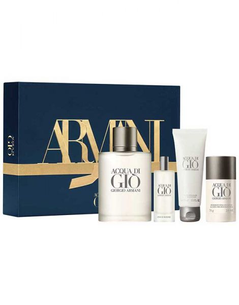 Armani Acqua di Gio Homme Set (Apa de Toaleta 100ml + Apa de toaleta 15ml + Deo Stick + Aftershave Balsam 75ml)