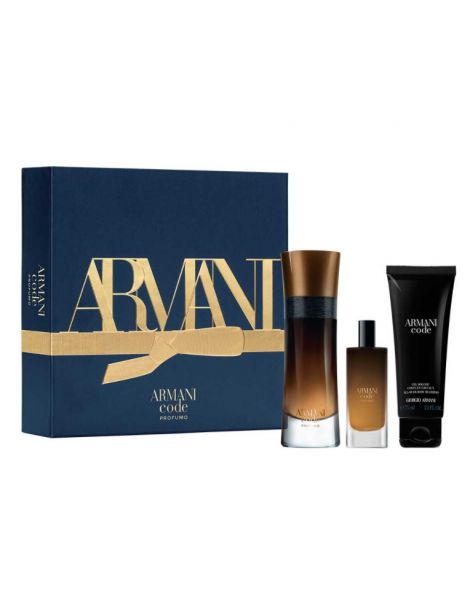 Armani Code Profumo Set (Apa de Parfum 60ml + Apa de Parfum 15ml + Gel de Dus 75ml)