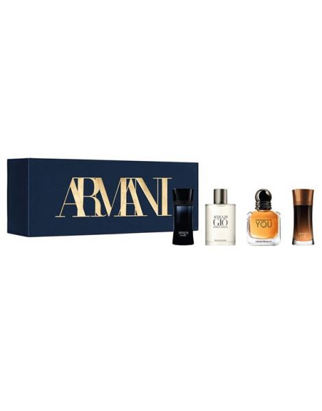 Armani Set Mini Parfumuri (Code Homme 4ml + Acqua Di Gio 5ml + Stronger With You 7ml + Code Profumo 4ml)