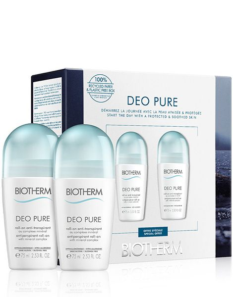 Biotherm Deo Pure Set (2x Deodorant Roll On 75ml)