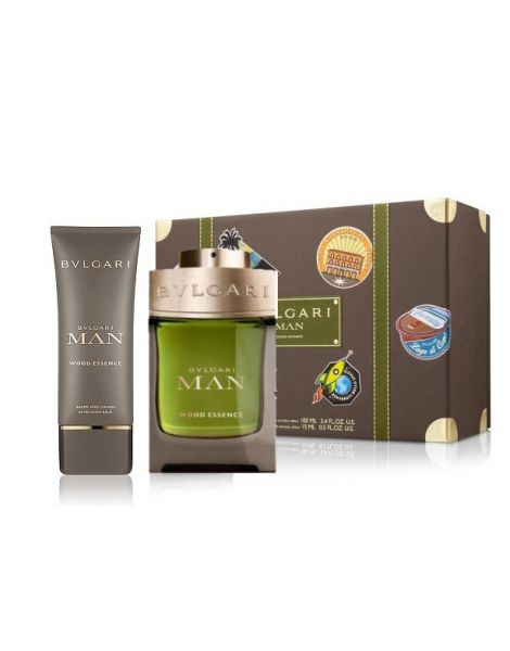 Bvlgari Man Wood Essence Set (Apa de parfum 100ml + Aftershave Balsam dupa ras 100ml + Borseta)
