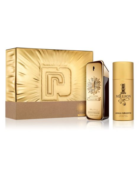 Paco Rabanne 1 Million Parfum Set (Parfum 100ml + Deodorant Spray 150ml)